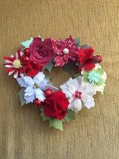 Centrotavola Ghirlanda fiori in panno-lenci