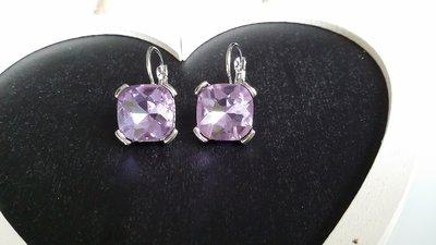 Orecchini cristallo viola