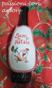 copribottiglia vestito per bottiglia natale idea regalo