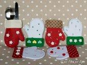 Porta posate natalizi guantini