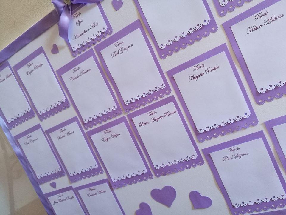 Matrimonio In Lilla : Tableau de marriage matrimonio lilla cuori fiori feste matrimo
