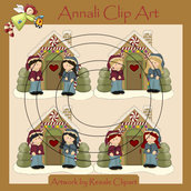 Hansel e Gretel - Clip Art per Scrapbooking e Decoupage - Immagini
