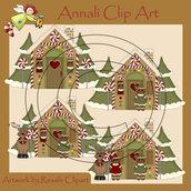 Casetta Marzapane - Natale - Clip Art per Scrapbooking e Decoupage - Immagini