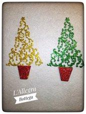 Albero di Natale in Fommy -Intagliato ideale per Decorazioni Natalizie