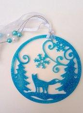 Decorazione natalizia in resina