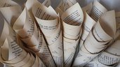 50 coni portariso pagina libro anticato shabby chic matrimonio vintage tema libri