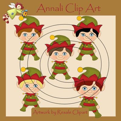 Folletti Natale - Clip Art per Scrapbooking e Decoupage - Immagini