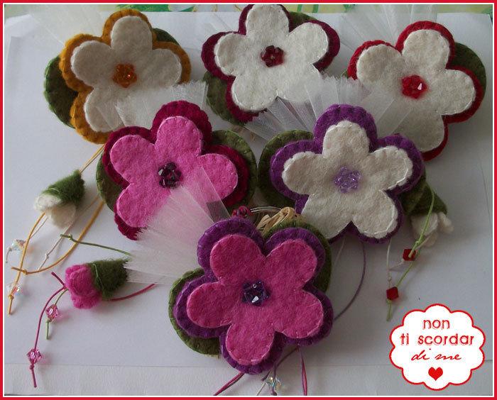 Portachiavi fioriti
