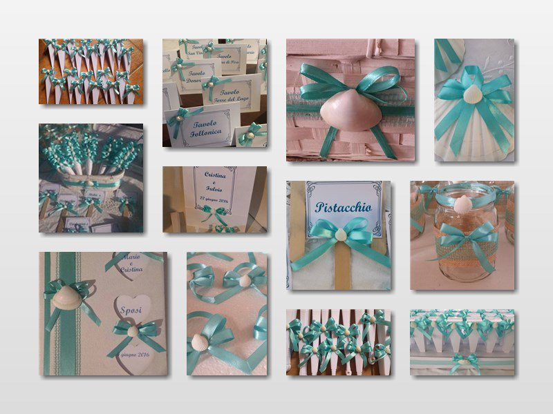 Matrimonio Tema Tiffany : Coordinato matrimonio verde tiffany tema mare segnagusto