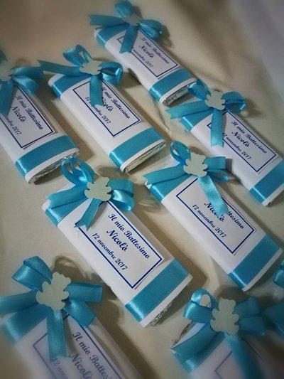 Tavolette di cioccolata personalizzate battesimo festa compleanno comunione orsetto