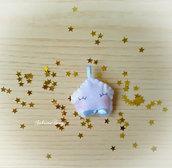Bomboniera stella feltro confettata nascita battesimo compleanno comunione