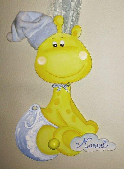 Fiocco giraffa con nome