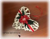 Addobbo Cuore di cannucce di carta con Stella di Natale