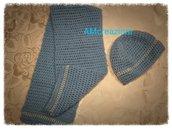 Completo sciarpa e cappello ad uncinetto