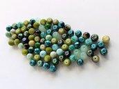 Perle di vetro dipinte a spruzzo   PRL36N
