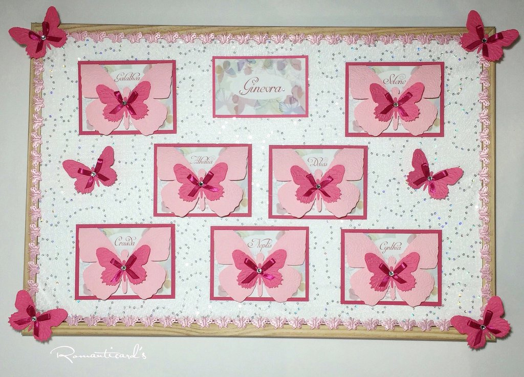 Tableau motivo Farfalla by Romanticards