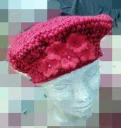 cappello donna fatto a mano uncinetto rosso