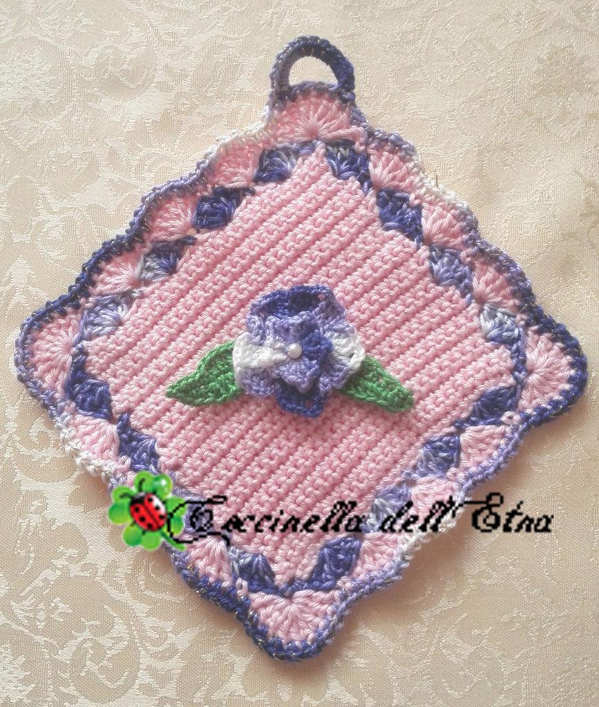 Presina Alluncinetto Con Fiore Viola Idea Regalo Di Natale Feste