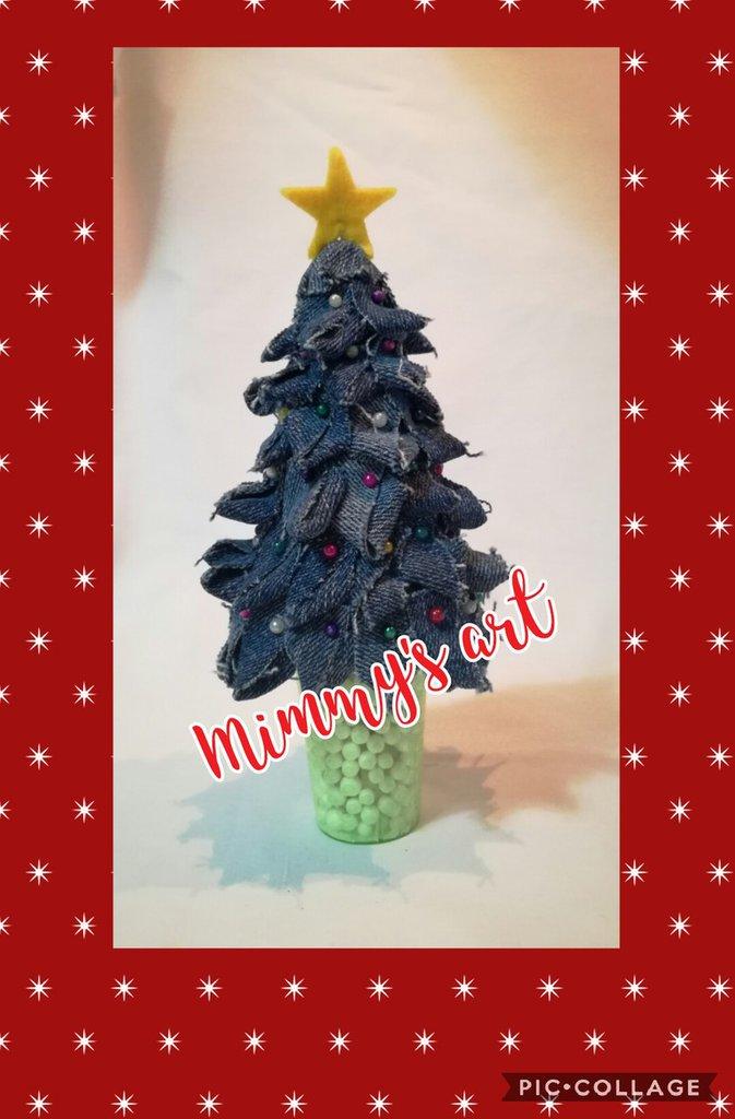 Addobbi Natalizi Jeans.Albero Di Natale In Jeans Feste Natale Di Mimmy S Art Su Misshobby