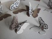 Doppie farfalle in cartoncino pesante segnaposto-bomboniere nascita, matrimonio, battesimo, feste di compleanno, decorazione camerette,