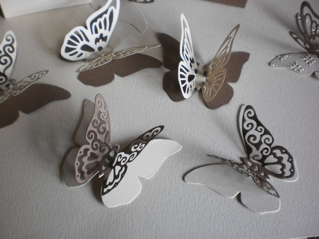 Farfalle Segnaposto Matrimonio.Doppie Farfalle In Cartoncino Pesante Segnaposto Bomboniere Nascit