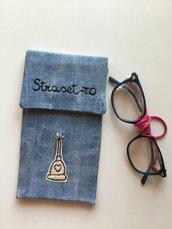 Portaocchiali 👓 in jeans riciclato