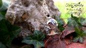 Collana farfalla ampolla rosa vera natura handmade idea regalo