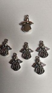 Pendenti Charms Angelo Mod.1 color argento tibetano per bigiotteria, collane portachiavi, orecchini bomboniera bomboniere chiudipacco