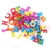 100 lettere Alfabeto colorate con 1 foro per portachiavi, pendenti