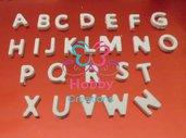 MINI Gessetti artigianali a forma di Lettera per decorazioni,  cornice, nome. Bomboniera Compleanno, Segnaposto, chiudipacco, Comunione, Cresima