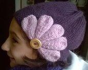 cappello bambina con fiore
