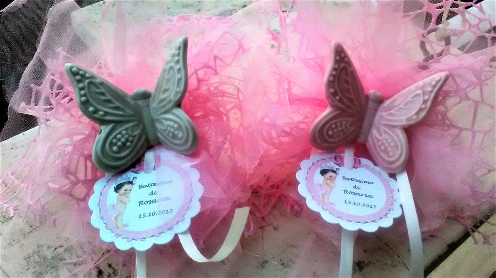 Bomboniere Matrimonio Con Farfalle.Portaconfetti Bomboniera Nascita Battesimo Matrimonio Con Far