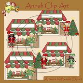 Negozio Natale - Clip Art per Scrapbooking, Decoupage, Banner - Immagini