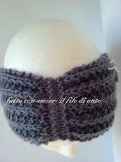Fascia per capelli in pura lana 100%