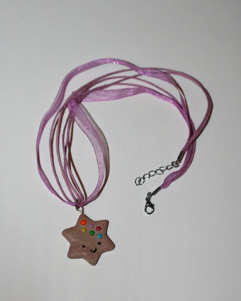collana stella biscotto
