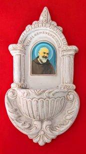 Acquasantiera in terracotta Faentina
