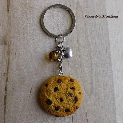 Portachiavi biscotto cookies americani in fimo