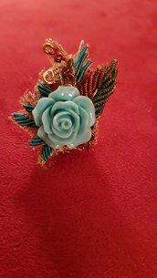 Anello ovale rose