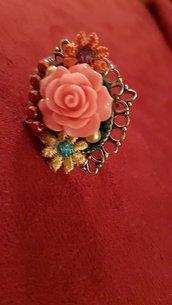 Anello rosa fiori