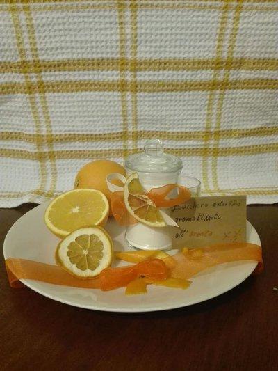 Zucchero extra fine aromatizzato all'arancia