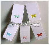 20 Bigliettini per bomboniere: le farfalle
