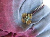 Ciondolo in ottone riciclato con giada