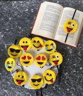 Segnalibro emoticon in feltro