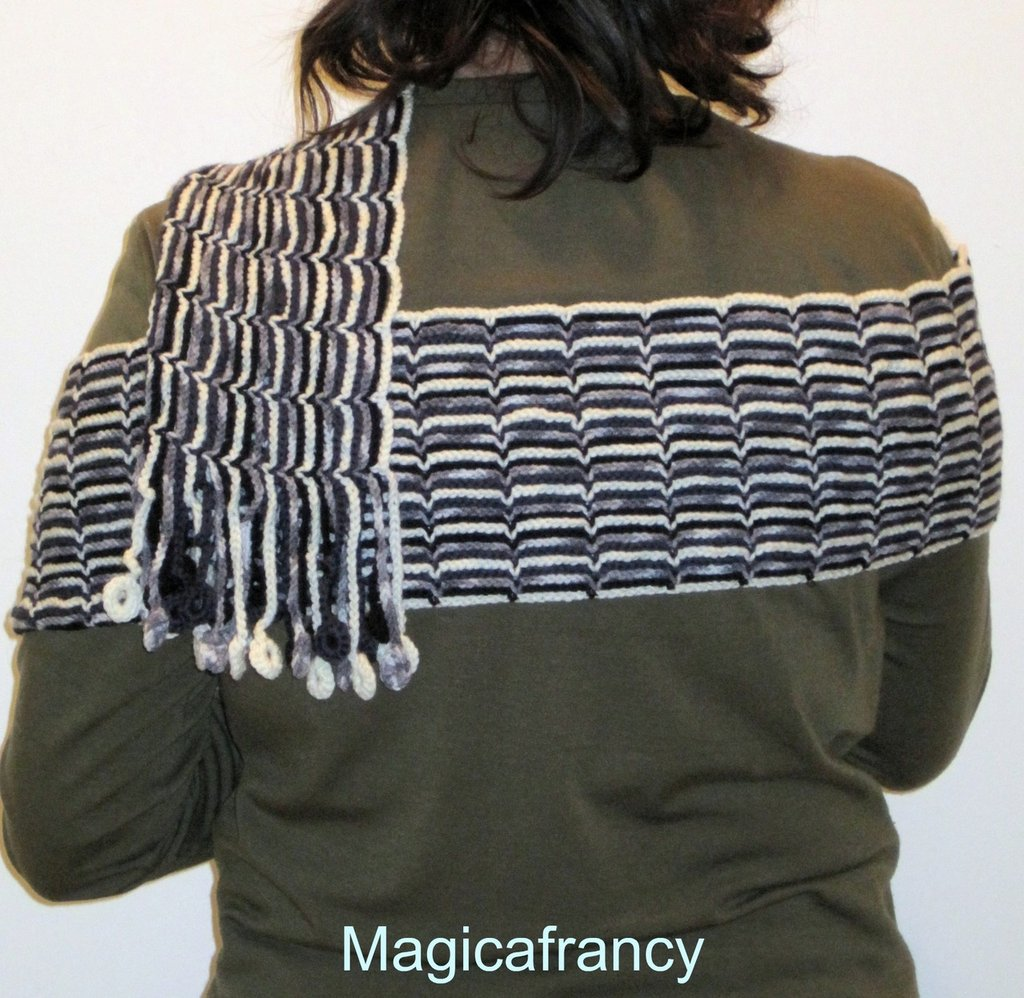 Sciarpa di lana all'uncinetto #55093