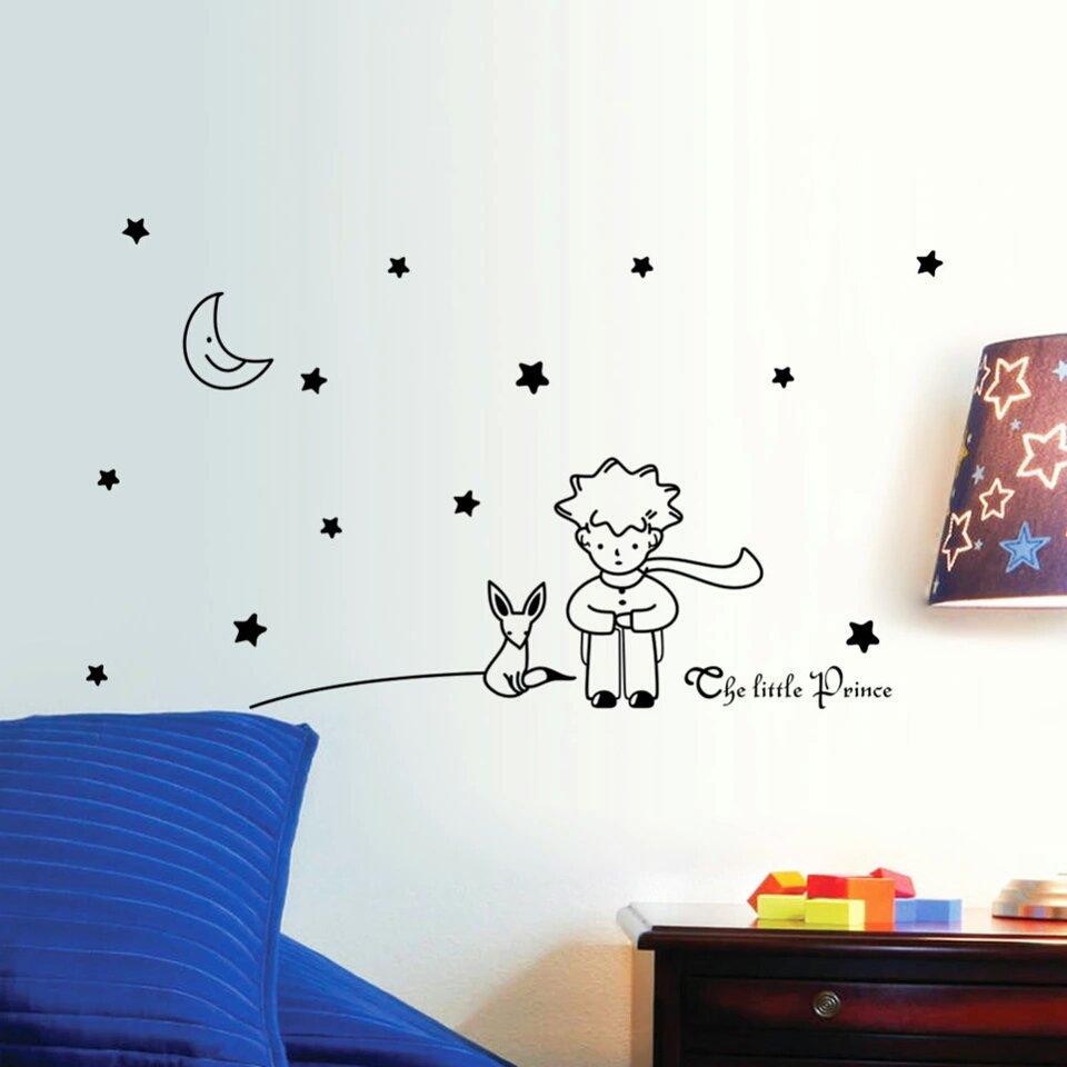 Adesivo sticker per parete piccolo principe con volpe fox - Decorazione parete cameretta ...