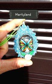 Farfalla arcobaleno blu