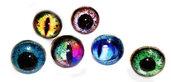 Anelli in resina con simbolo occhio in vari colori...