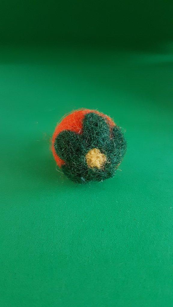 Anello con pallina arancio