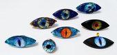 Bizzarri Anelli a forma di occhio in vari colori