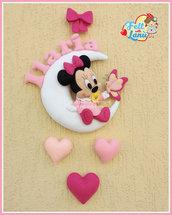 Fiocco Nascita Baby Minnie con Farfalla